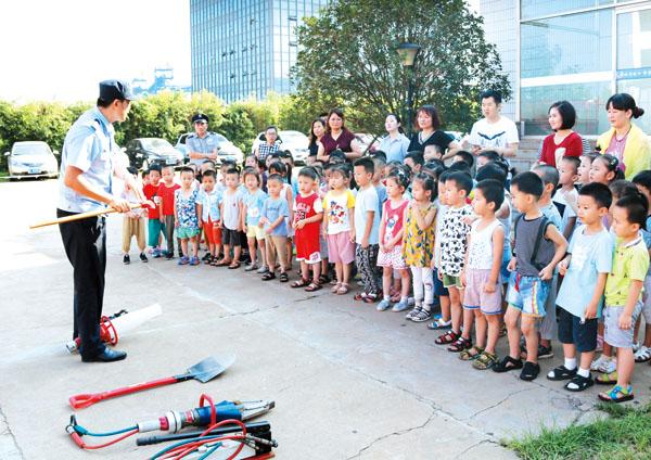 消防安全教育走进幼儿园